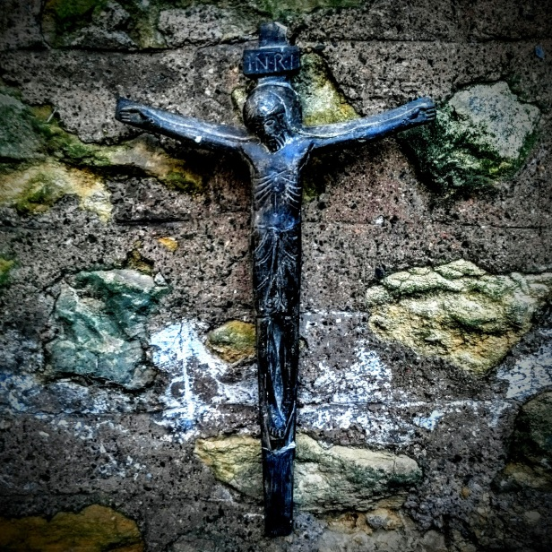 Crucifix on an Old Wall, Sherborne, Dorset (2015)